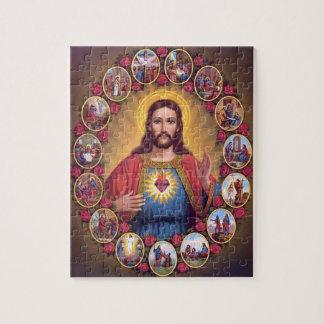 O coração sagrado de Jesus Quebra-cabeça