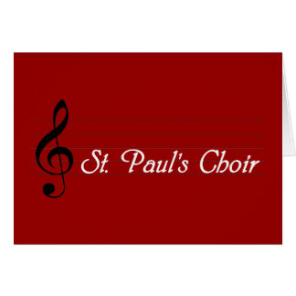 O coro de St Paul Cartão Comemorativo