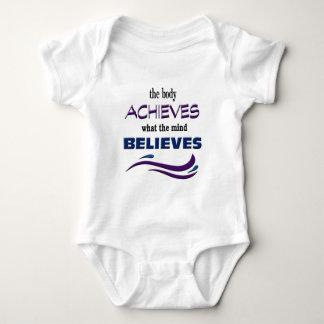 O corpo consegue, mente acredita body para bebê