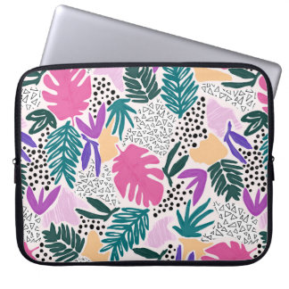 O corte dá forma à bolsa de laptop tropical do bolsas e capas de notebook