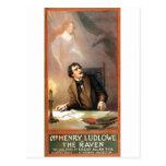 O corvo de George Hazelton (Edgar Allan Poe) 1908 Cartões Postais