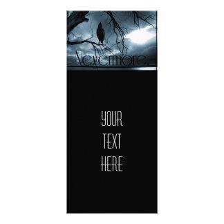 O corvo - nunca mais raios de sol & azul da árvore 10.16 x 22.86cm panfleto
