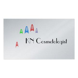 O Cosmetologist das unhas modela o cartão de Cartões De Visitas