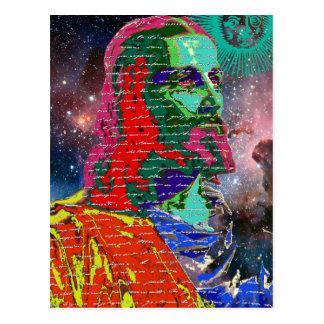 O cosmos da galáxia do espaço do Jesus Cristo Cartão Postal