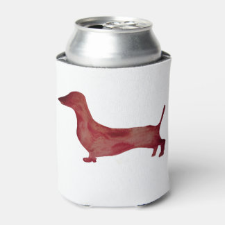 O costume combinado do cão de Brown do Dachshund Porta-lata