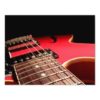 O COSTUME CONVIDA - a guitarra elétrica vermelha Convite 10.79 X 13.97cm