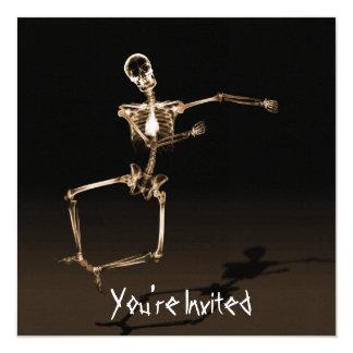 O COSTUME CONVIDA - pulo de esqueleto da alegria Convite Quadrado 13.35 X 13.35cm