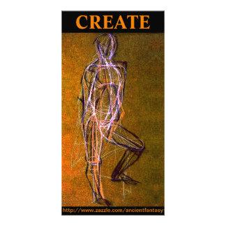 """O costume """"CRIA"""" cartões de fotos das belas artes Cartão Com Foto"""