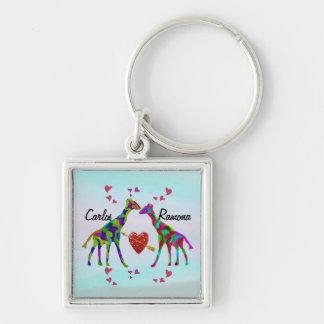 O costume de Luv do girafa nomeia o chaveiro