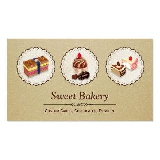 O costume doce da loja da padaria endurece a cartão de visita
