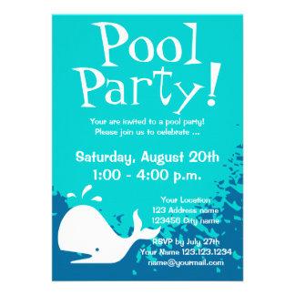 O costume dos convites da festa na piscina convi