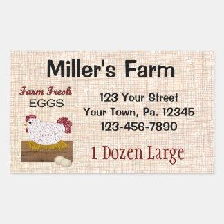 O costume Eggs a etiqueta Adesivo Retangular