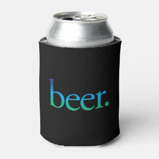 O costume engraçado da cerveja pode refrigerador, porta-lata