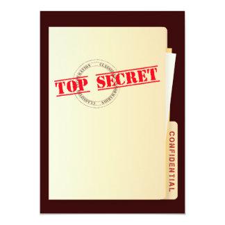 O costume extremamente secreto da festa de convite 12.7 x 17.78cm