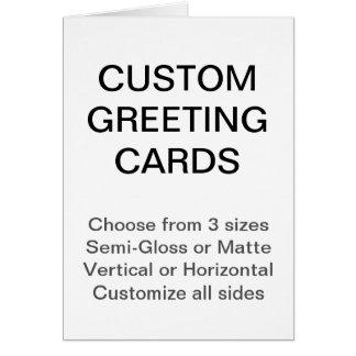 """O costume personalizou 4,25"""""""" cartão da foto x5.5"""