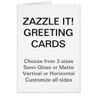 """O costume personalizou 5"""" x 7"""" cartão da foto"""