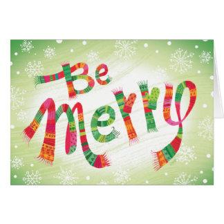 O costume seja cartão de Natal alegre do mitene do