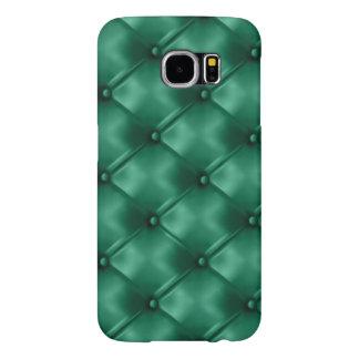 O couro rico do verde esmeralda anunciou a cor da capa para samsung galaxy s6