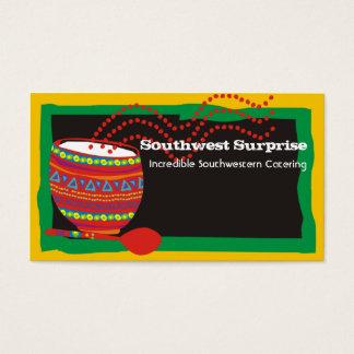 O cozinhar mexicano decorou cartões de visitas da