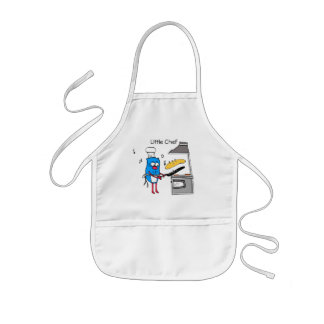 O cozinheiro chefe pequeno caçoa o avental