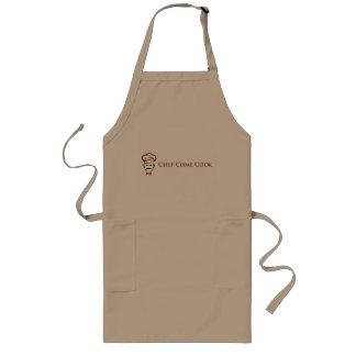 O cozinheiro chefe vem avental longo do cozinheiro