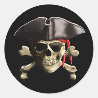 O crânio alegre do pirata de Roger Adesivos