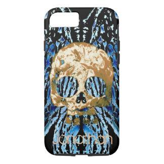 O crânio assustador adiciona a capa de telefone