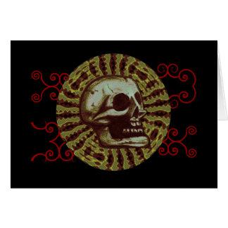 o crânio (círculo 3A) Cartão