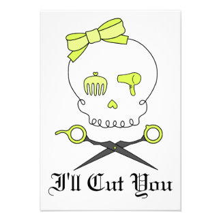 O crânio do cabeleireiro Scissor Crossbones - am