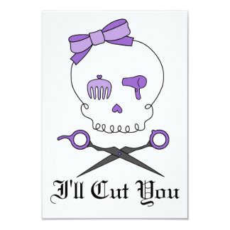 O crânio do cabeleireiro & Scissor Crossbones - Convites