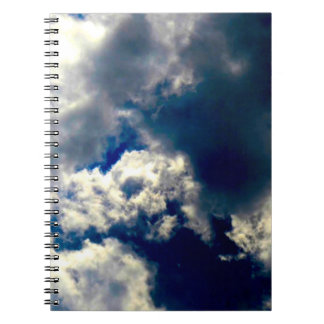 O crânio nubla-se o caderno