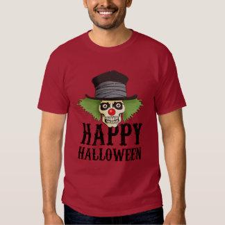 O crânio vestido acima como de um palhaço diz o camisetas