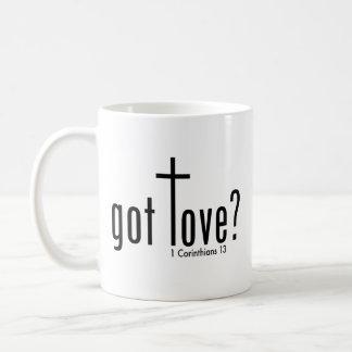 """Caneca De Café O cristão """"obteve o amor?"""" Caneca"""