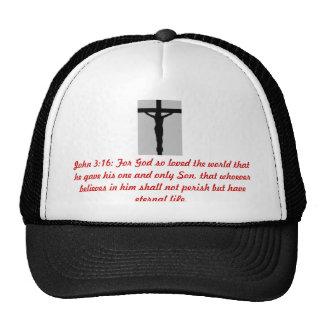 O cristo do 3:16 de JOHN nos camionistas Boné