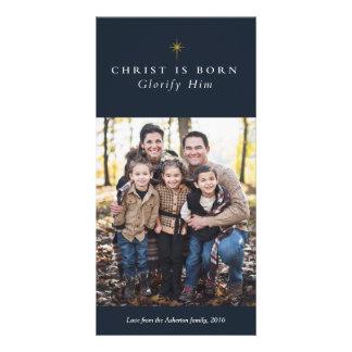 O cristo é cartões de foto de Natal religiosos