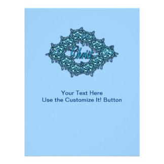O cristo é o centro - azul de gelo panfleto personalizados