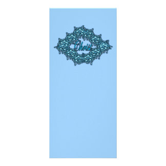 O cristo é o centro - azul de gelo panfleto informativo personalizado