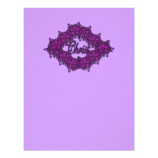 O cristo é o centro - rosa da forma panfletos personalizado