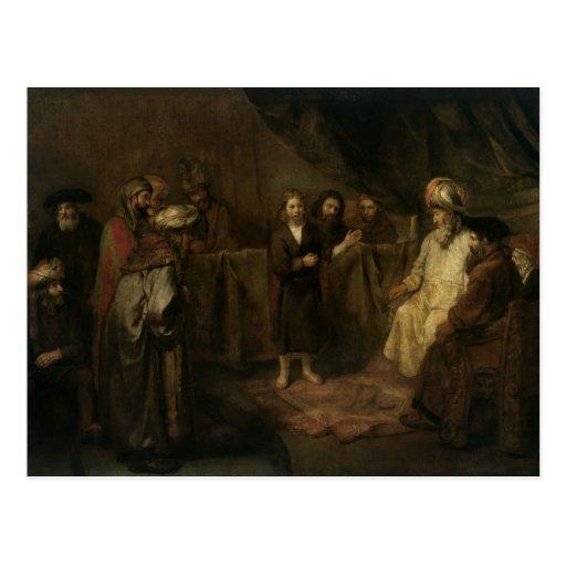 O cristo infantil no templo cartões postais