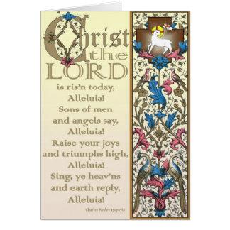 O cristo o senhor é cartão de páscoa hoje