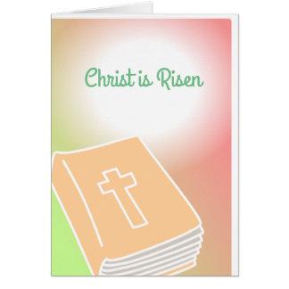 O cristo transversal da bíblia do cartão é
