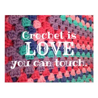 O Crochet é amor que você pode tocar no cartão