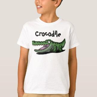 O crocodilo caçoa a camisa