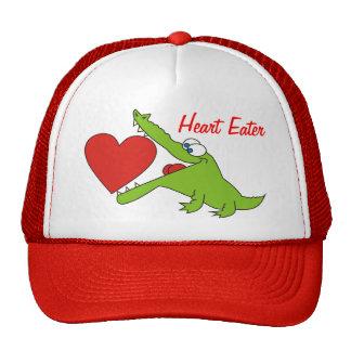 O crocodilo engraçado do comedor do coração caçoa  boné