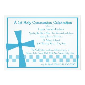 ø Cruz do comunhão Convite 12.7 X 17.78cm