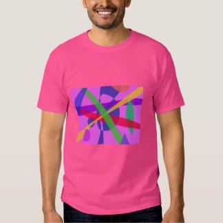 O cruzamento alinha a arte abstracta primitiva camiseta