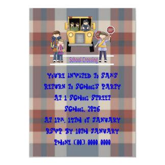 O cruzamento de escola convite 12.7 x 17.78cm