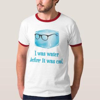 O cubo de gelo do hipster foi água antes que camiseta
