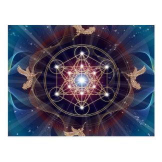 O cubo de Metatron - Merkabah - geometria sagrado Cartão Postal