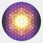 O cubo/flor de Metatron da etiqueta da vida - redo Adesivos